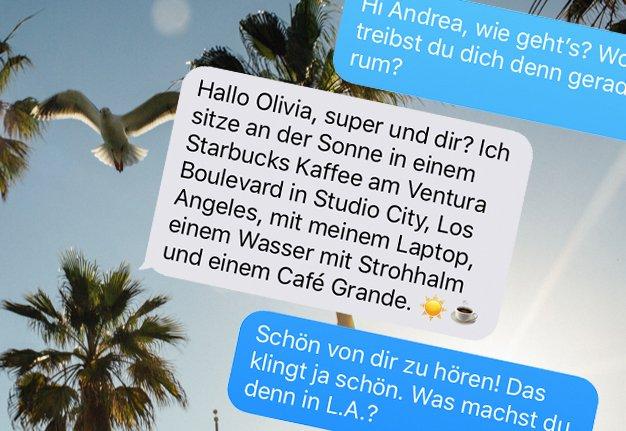 Schöne Grüsse aus LA! Im Chat mit Andrea Monica Hug