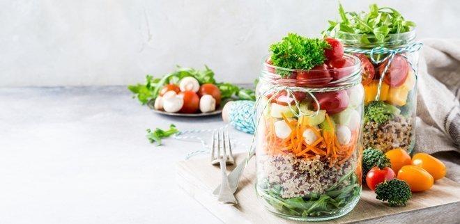 Tolle Rezepte für Lunch im Glas