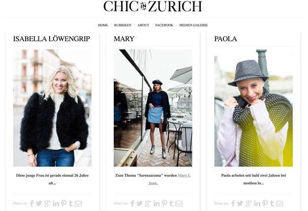 Chic in Zürich ist DER Zürcher Streetstyle Blog.