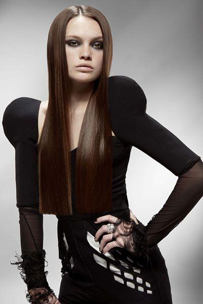 frisuren für lange haare: gerade haare