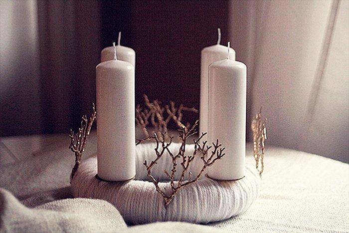 adventskranz basteln zwirn statt zweige. Black Bedroom Furniture Sets. Home Design Ideas