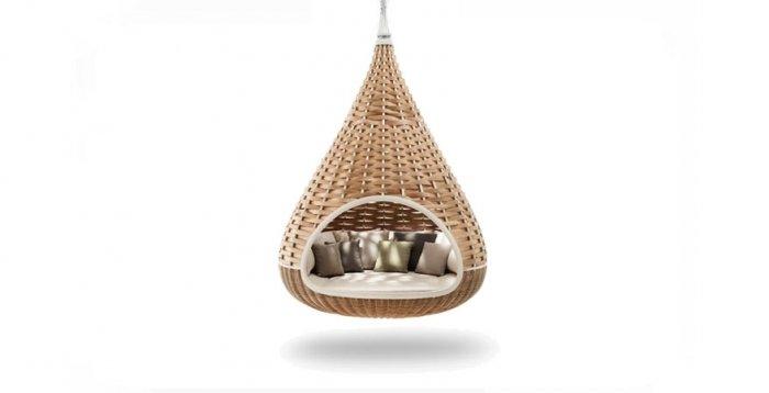 balkon deko zum h ngen gem tlicher korbsessel. Black Bedroom Furniture Sets. Home Design Ideas