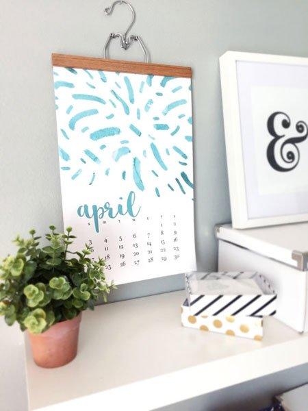 weihnachtsgeschenke selber machen wasserfarben kalender basteln. Black Bedroom Furniture Sets. Home Design Ideas