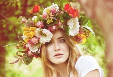 Blumenkranz für die Haare