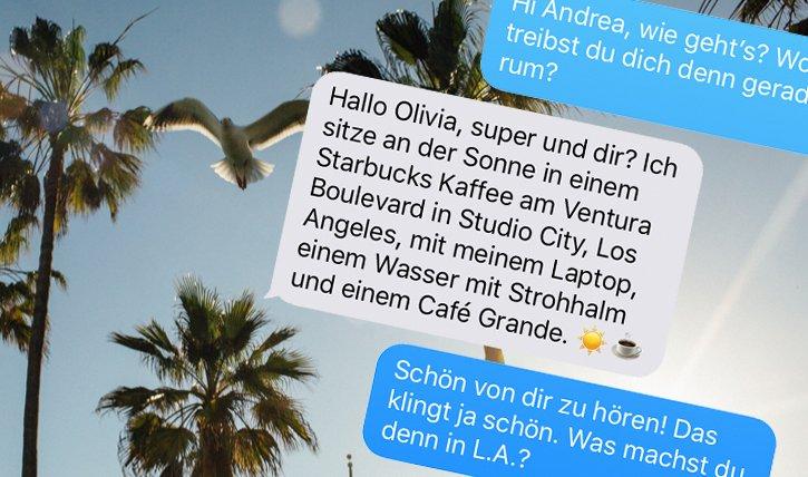 Schöne Grüsse aus LA! Im Interview-Chat mit Andrea Monica Hug