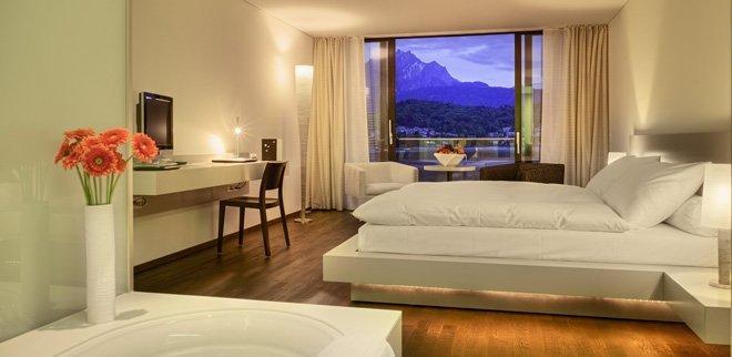 Gewinne eine Übernachtung für zwei im Seehotel Hermitage Luzern