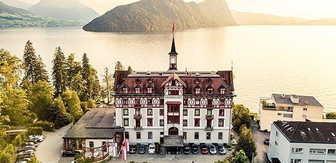 Gewinne eine Übernachtung für zwei im Hotel Vitznauerhof im Wert von 700 Franken