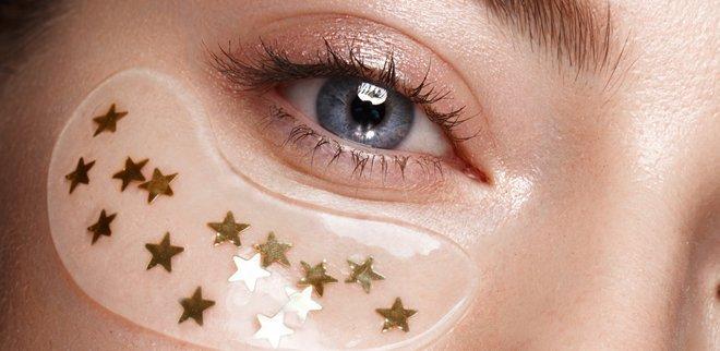Augen pflegen und Make-up