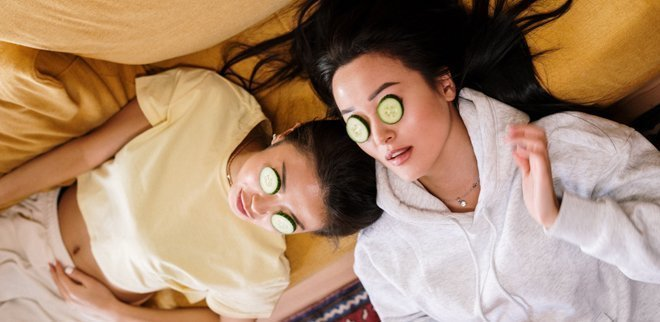 Gesichtsbehandlung und Wellness Beauty zuhause