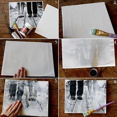 Mit dieser Anleitung ist Bilder auf Holz oder eine Leinwand zu drucken kinderleicht.