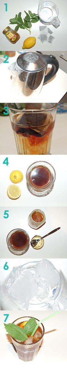 Eistee Rezept zum selber machen. Der einfache Eistee.