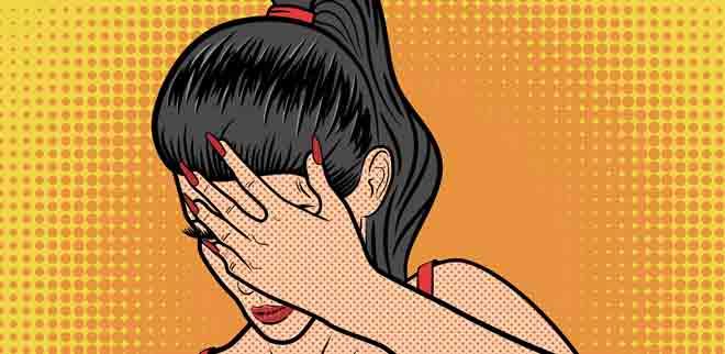 Frau gestresst ADHS