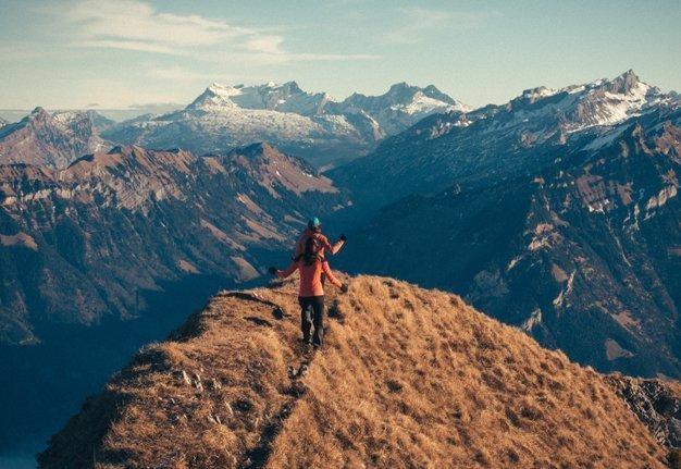 Schweizer Wanderungen im Herbst