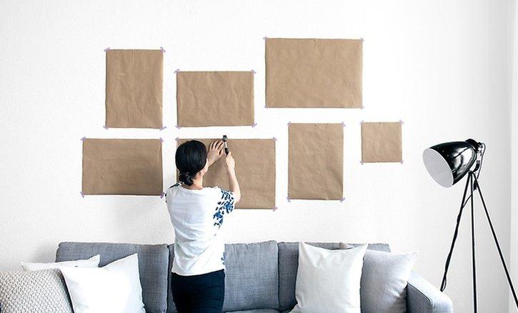 Gallery Wall Vorlage aufhängen
