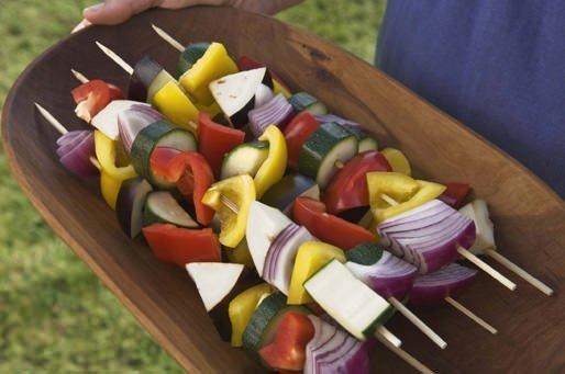 Bunte Grillspiesse mit Gemüse!