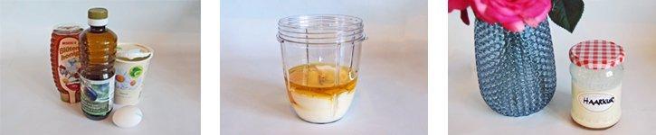 Haarmakse selber machen mit Honig und Joghurt
