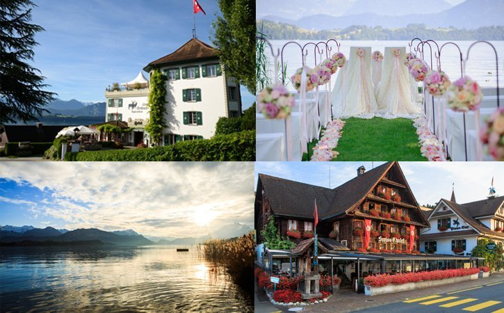 Hochzeit in der Schweiz am See