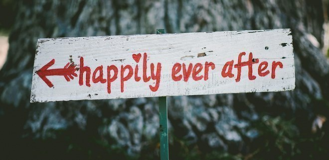 Happily ever after Schild