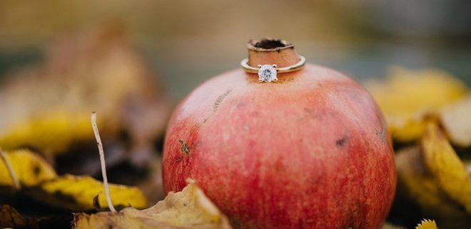 Verlobungsring Instagram: Granatapfel