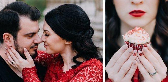 Verlobungsfoto für Instagram: Hübsche Nägel sind ein Muss
