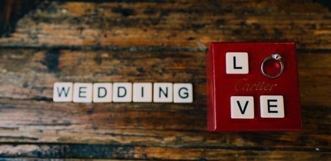 Verlobungsfoto Instagram: Scrabble