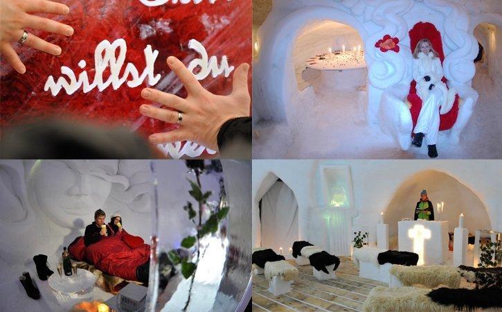 Heiraten im Iglu Dorf als Schweizer Hochzeitslocation