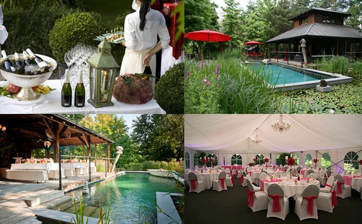 Hochzeitslocation in der Schweiz im Garten