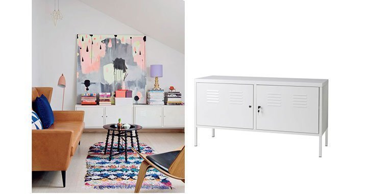Der Ikea Schrank PS lässt sich wunderbar kombinieren und ist auch noch sehr budgetfreundlich.