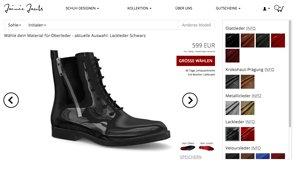 Auf diesen Webseiten kannst du dir dein Schuhwerk selbst gestalten.