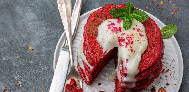 Randen Pancakes Rote Bete Pfannkuchen