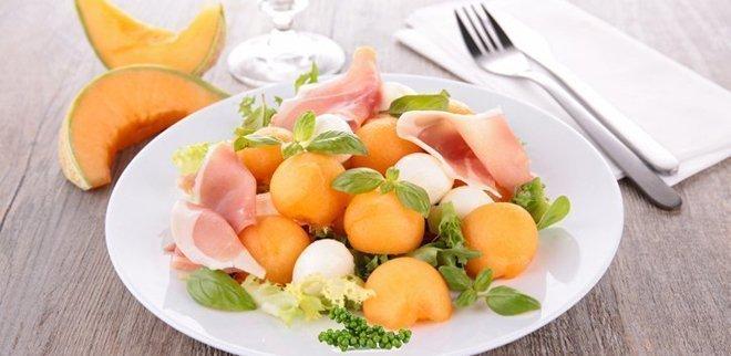 Melonensalat mit Peffer