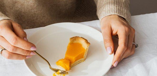 Pumpkin Pie auf dem Teller