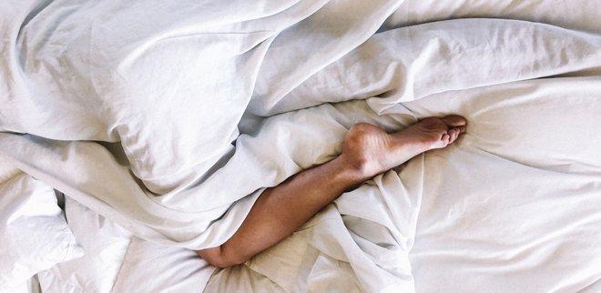 Person im Bett
