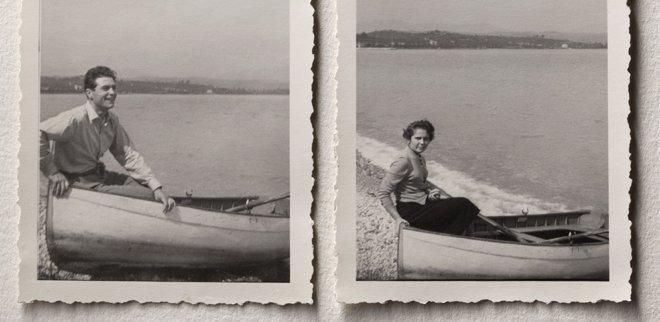 Liebesbekundungen auf Insta: Alte Fotos von einem Paar auf dem Boot