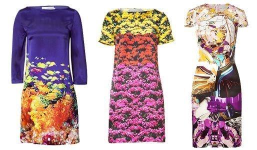 Farbige Mode von mary Katrantzou.