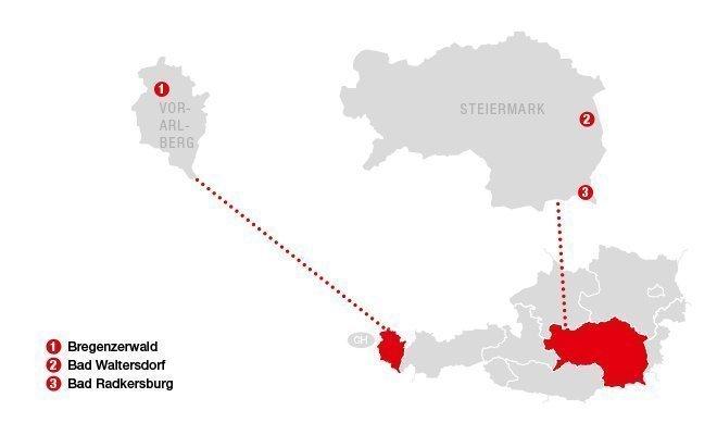 Karte Oesterreich