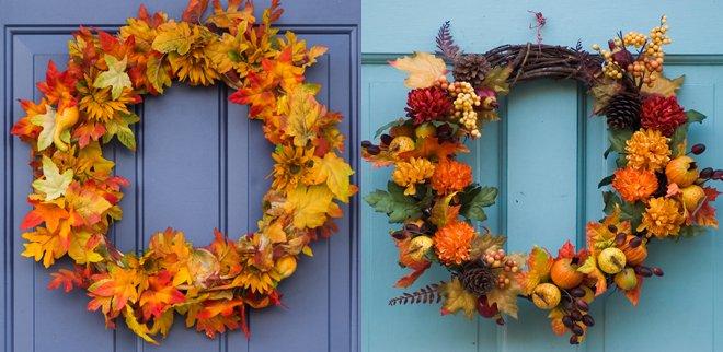 Herbstdeko für die Haustür