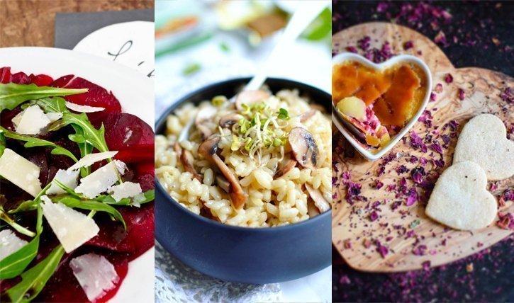 valentinstag men nr 4 vegetarisch rote beete carpaccio champignon risotto cr me br br l e. Black Bedroom Furniture Sets. Home Design Ideas