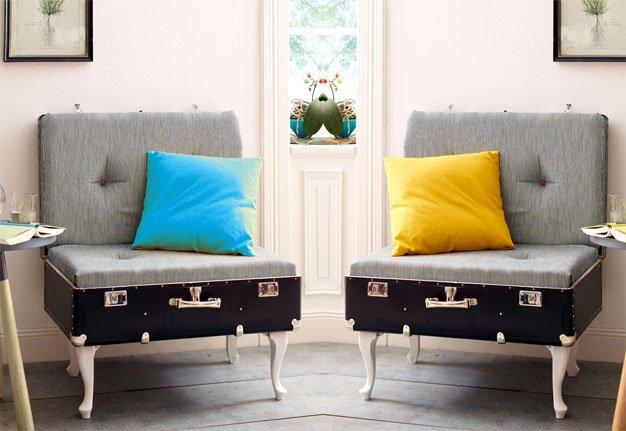 Vintage-Möbel selber machen: Wir verwandeln unseren Koffer in einen Sessel