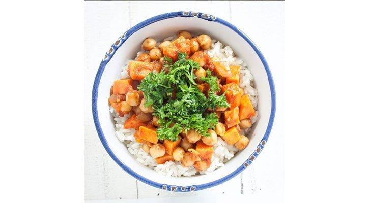 Ein Süsskartoffeln Curry leicht gemacht. Das Rezept.