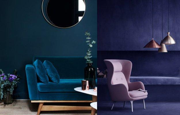 Wohnidee: Machen Sie doch mal blau. Zumindest Ihre Wand.