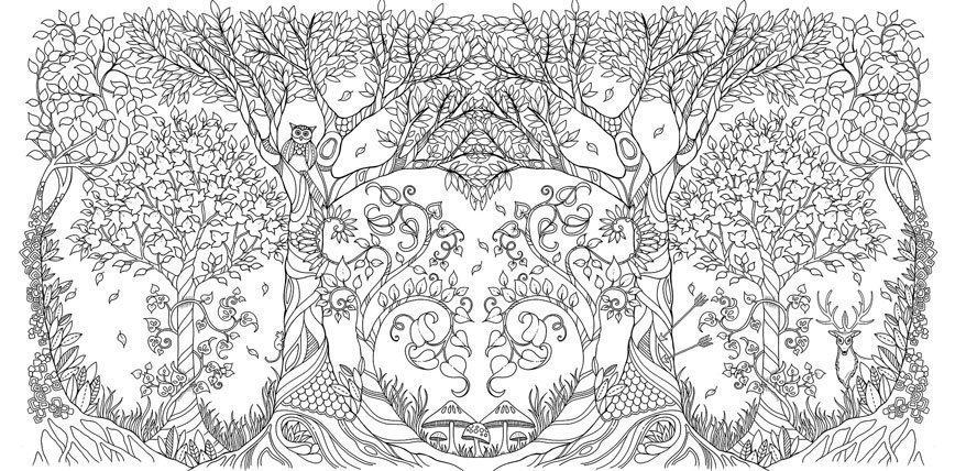 Zauberwald Malbuch für Erwachsene