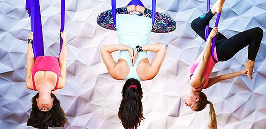 Unsere Redakteurin hat den Fitness-Trend Aerial Yoga getestet.