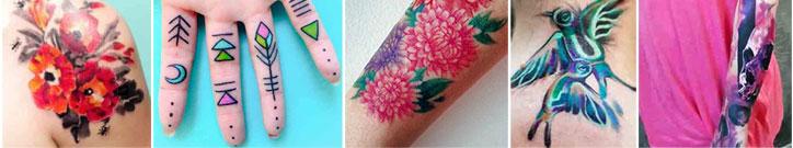 Wasserfarben Tattoo: 31 zauberhafte Farbspiele auf nackter Haut