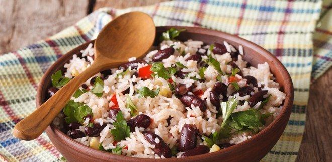 Ayurvedisches Mittagessen: Lauwarmer Bohnensalat