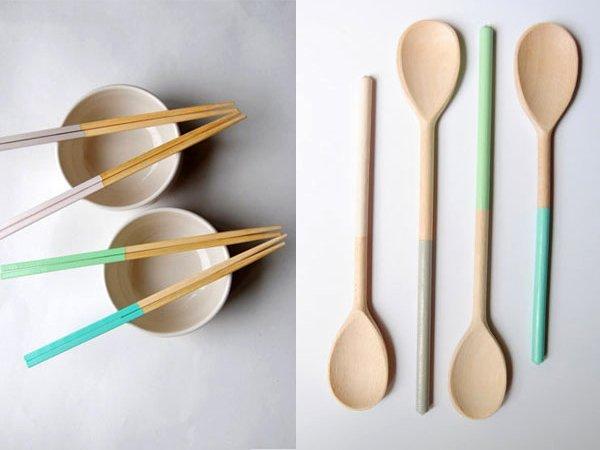 Last Minute Geschenk für Foodies und Hobbyköche: personalisierte Kochutensilien mit Color Dipping