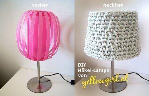 wolle zum wohnen lampenschirm h keln. Black Bedroom Furniture Sets. Home Design Ideas