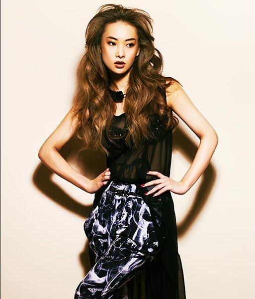Model braune haare