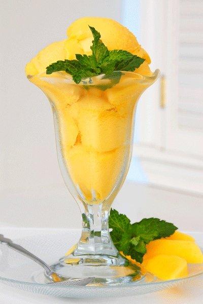 glace rezept f r ein exotisches mango sorbet. Black Bedroom Furniture Sets. Home Design Ideas