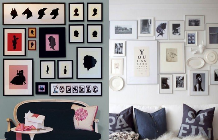 diy wohnideen wanddeko aus bilderrahmen. Black Bedroom Furniture Sets. Home Design Ideas